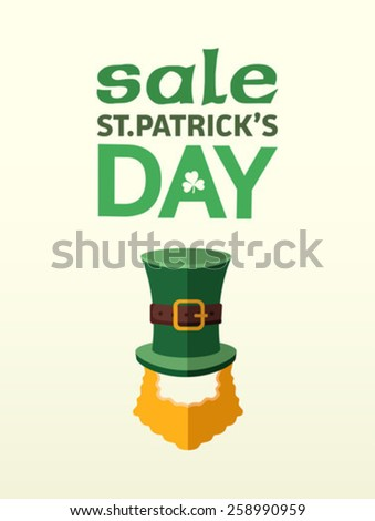 Digitally generated St patricks day sale advertisement vector - stock vector