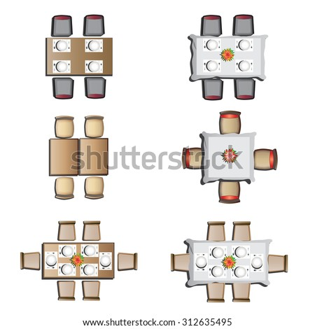 Dining Table Top View dining table top view stock images, royalty-free images & vectors