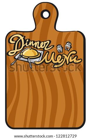 dinner menu - stock vector