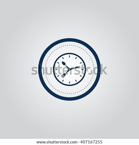 Dinner time icon - stock vector