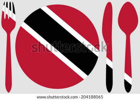 Dinnerware with the flag of Trinidad and Tobago
