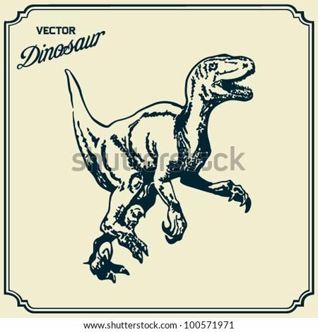 Dinosaur - stock vector