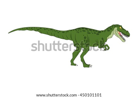 Dinosaur cartoon comic tiranosaur rex isolated vector illustration