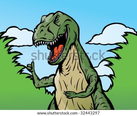 Cartoon Tyrannosaurus Rex Stock Images Royalty Free