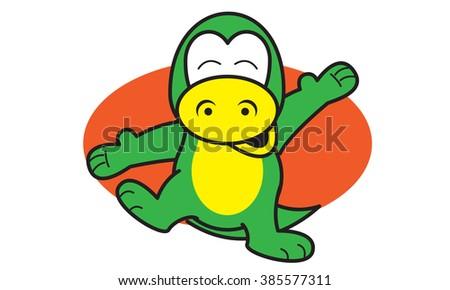 Dinosaur Happy - stock vector