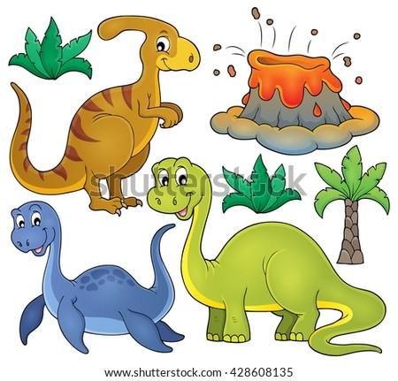 Dinosaur topic set 3 - eps10 vector illustration. - stock vector