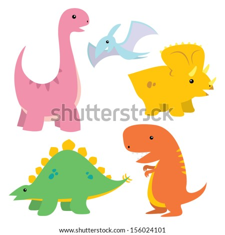 Dinosaur Vector Set - stock vector