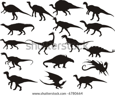 Dinosaurs - stock vector