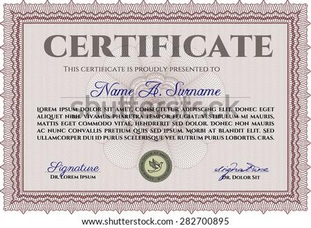 orange diploma certificate template complex background stock  diploma border frame complex background elegant design