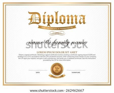 Diploma certificate design template stock vector 262462667 diploma certificate design template yadclub Choice Image