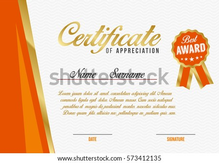 Diploma template kids certificate background hand stock vector diploma certificate of appreciation template background design vector illustration yadclub Choice Image