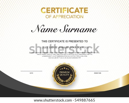 Award Certificate Stock Images, Royalty-Free Images & Vectors