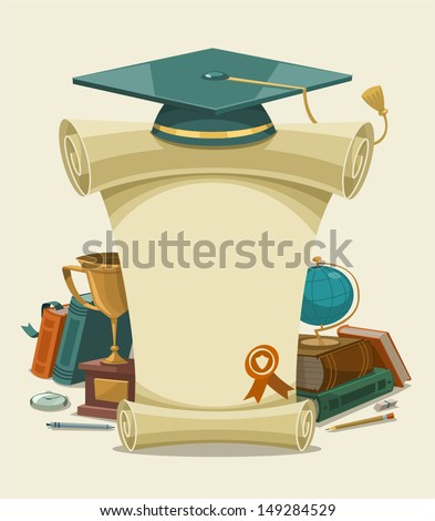 Diploma certificate. Vector illustration. - stock vector