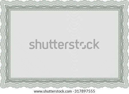 Diploma. Elegant design. With great quality guilloche pattern. Vector pattern that is used in money and certificate. - stock vector