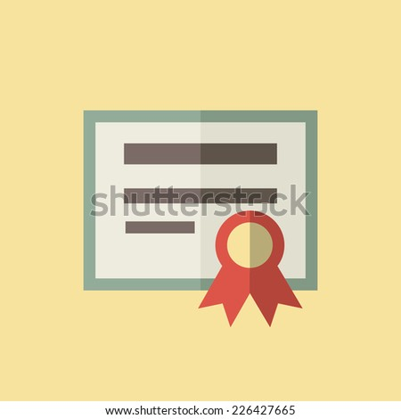 Diploma Icon - stock vector