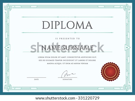 Diploma or Certificate Premium Design Template in Vector - stock vector