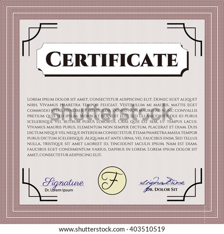 Certificate Template Eps10 Jpg Achievement Diploma Vector – Money Certificate Template