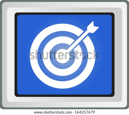 Direct hit. Target and arrow - Vector icon  - stock vector