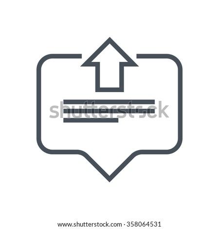 Direct message icon suitable for info graphics, websites and print media and  interfaces. Line vector icon. - stock vector