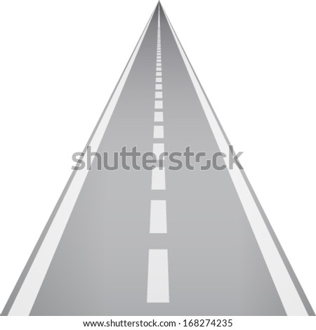 direct road - stock vector