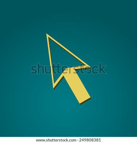 Direct selection arrow icon. Vector illustration. - stock vector