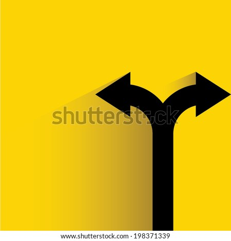 direction arrow sign, decision making concept - stock vector