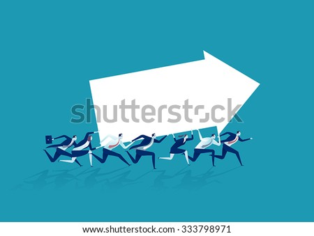 Direction. Concept business illustration - stock vector