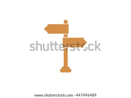 Direction road icon,  - stock vector