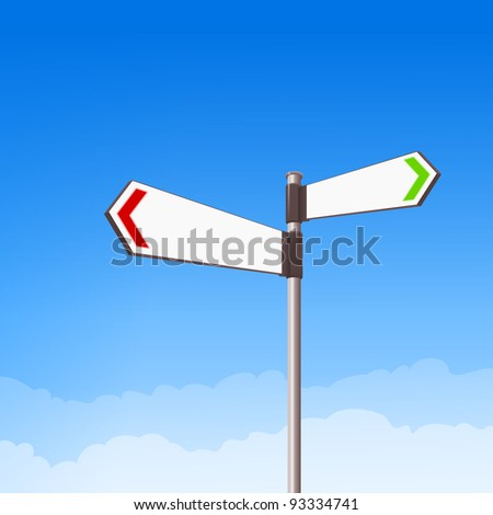 Direction Road Sign - stock vector