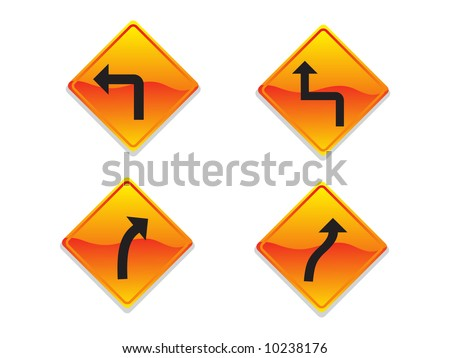Direction Signs Vector Illustration - stock vector