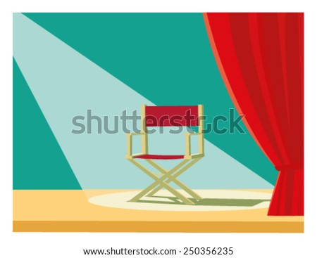 Director chair - stock vector