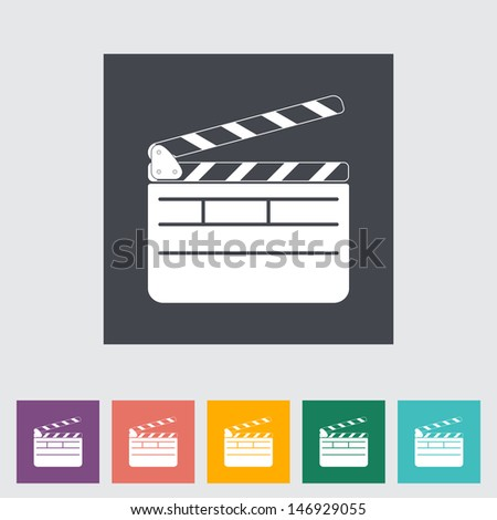 Director clapperboard flat icon. Vector illustration. - stock vector