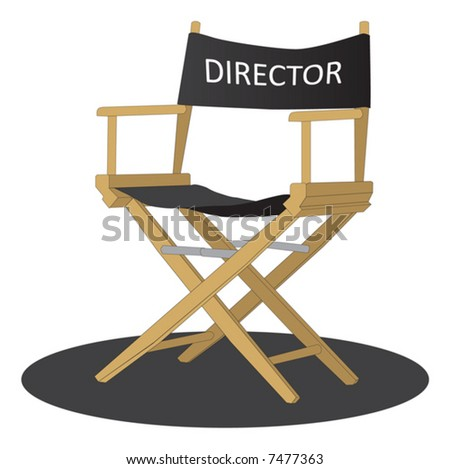 Director's chair over white background - stock vector
