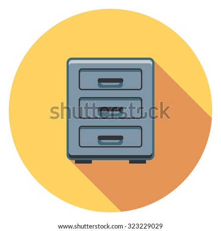 directory flat icon in circle - stock vector
