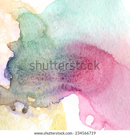 Dirty grunge colorful watercolor vector texture.  - stock vector