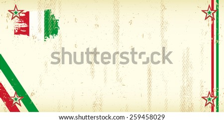 Dirty Italian invitation. A grunge Italian greeting card for an invitation - stock vector