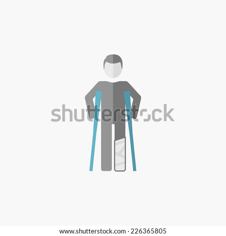 Disability Flat Icon - stock vector