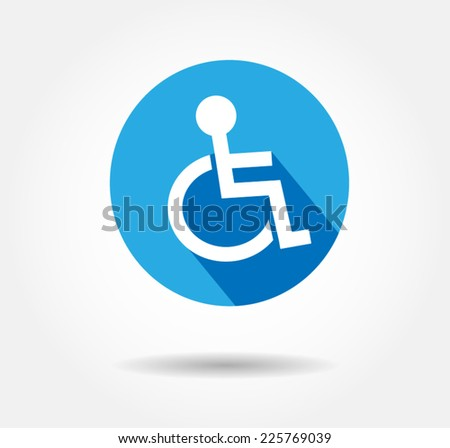 disability flat icon vector - stock vector