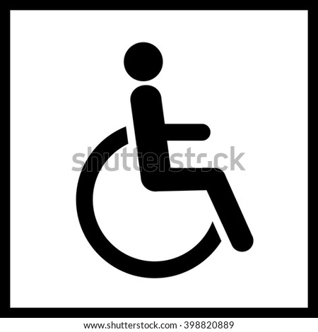 Disability vector icon  Vector restroom icon man in wheelchair sign symbol   Disability. Male Female Wc Icon Denoting Toilet Stock Vector 217677532