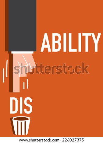 Disability word VECTOR ILLUSTRATION - stock vector