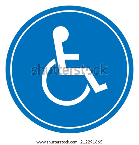 Disabled Handicap Sign - stock vector