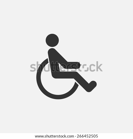 disabled icon - stock vector