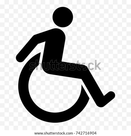 Disabled Icon Handicapped Symbol Isolated On Stock Vector 742716904