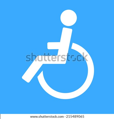 disabled icon sign vector illustration - stock vector