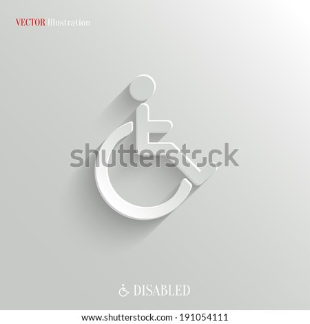 Disabled icon - vector web illustration, easy paste to any background - stock vector