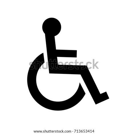 disabled person handicap icon wheelchair symbol stock vector rh shutterstock com logo handicap vectoriel handicap sign vector