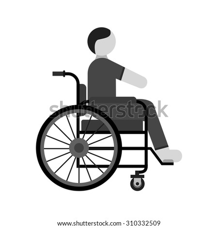 Disabled person, paralyze icon vector image. Can also be used for healthcare and medical. Suitable for mobile apps, web apps and print media.