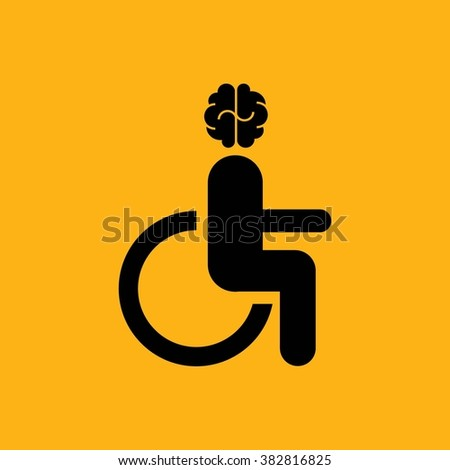 Disabled person sitting in the wheelchair - stock vector