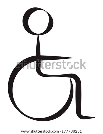 Disabled Person Symbolic Representation - stock vector
