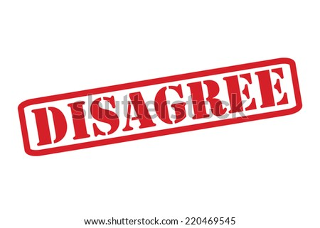 DISAGREE Red Rubber Stamp vector over a white background. - stock vector
